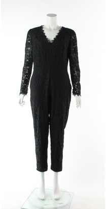 Temperley London Black Cotton Jumpsuits