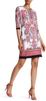 Sandra Darren 3/4 Sleeve Print Dress