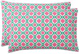 Trellis Splash Pillowcases, Set of 2, Bright Pink/Green