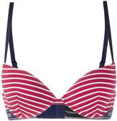 Emporio Armani logo lined striped bra