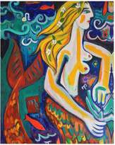 KD Home Red Tail Mermaid by Pedro De La Cruz (Canvas)