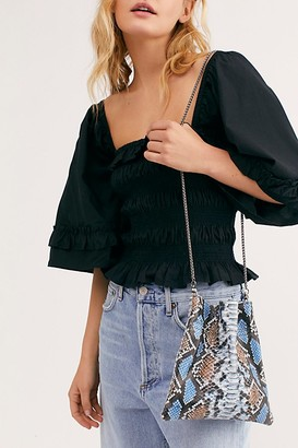 Fp Collection Nicolette Snake Crossbody