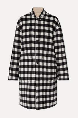 Mansur Gavriel Reversible Checked Wool Coat - Black