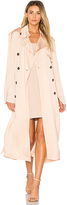 Elizabeth and James Aaron Oversized Trench Coat in Blush. - size L (also in XS)