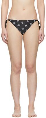 Saint Laurent Black Bandana Print Bikini Bottom