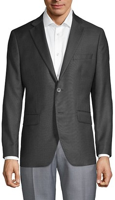 Saks Fifth Avenue Made In Italy Regular-Fit Textured Wool Jacket