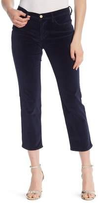 Frame High Waist Straight Leg Velvet Jeans