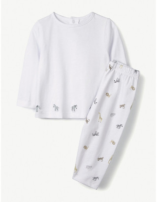 The Little White Company Zebra print cotton pyjamas 0-24 months