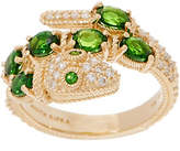 Judith Ripka 14K 1.15 cttw Chrome Diopside &Diamond Ring