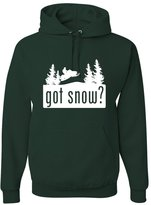 Go All Out Screenprinting Adult Got Snow Funny Snowmobile Lover Sweatshirt Hoodie