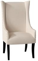 Lulu Upholstered Dining Arm Chair Latitude Run Body Fabric: Hotwash Linen