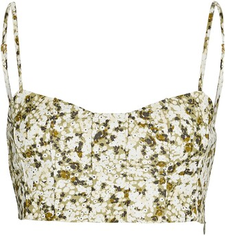Shona Joy Suzette Floral Crop Top