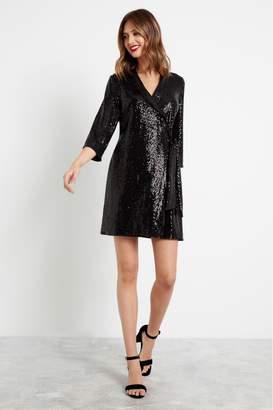 F&F Womens Black Tuxedo Dress - Black