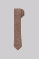 Moss Bros Brown Wool Skinny Tie