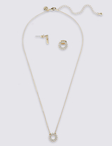 M&S Collection Star Sparkle Necklace & Earrings Set