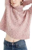 J.Crew Women's Marled Wool Blend Turtleneck Sweater