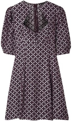 ALEXACHUNG Floral-jacquard Mini Dress