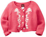 Tea Collection Isabella Embroidered Cardigan Sweater (Baby Girls)