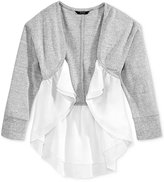 GUESS Chiffon Trim Cardigan, Big Girls (7-16)