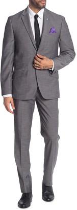 Ben Sherman Mid Grey Two Button Notch Lapel Trim Fit Suit