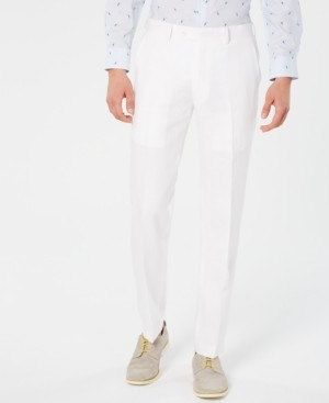 Bar III Men's Slim-Fit White Suit Pants, Created for Macy's