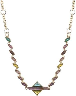 """Carolee Stone Front Collar Necklace, 14"""""""