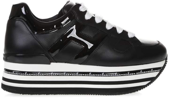 19e1a4719a Womens Black Leather Sneakers Hogan - ShopStyle UK