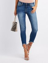 Charlotte Russe Cello Frayed Hem Destroyed Skinny Jeans