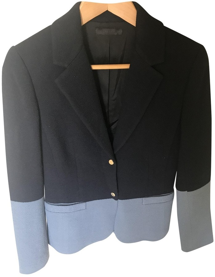The Row Blue Wool Jacket for Women
