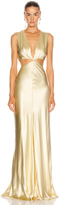 MARKARIAN Monaca Cut Out Gown in Buttercup | FWRD