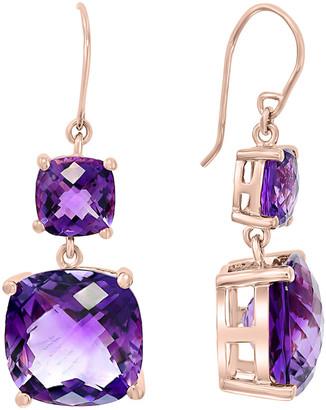 Effy 14K Rose Gold 15.20 Ct. Tw. Diamond & Amethyst Earrings