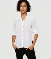 Lou & Grey Dotstripe Button Down Shirt
