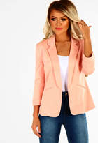 Pink Boutique Lady Boss Peach Fitted Blazer
