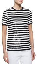 Michael Kors Allover Sequin Striped Tee