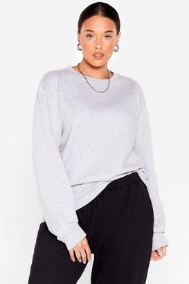 Nasty Gal Womens Meet the Crew Neck Plus Oversized Sweatshirt - Black - 16