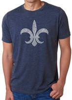LOS ANGELES POP ART Los Angeles Pop Art Men's Premium Blend Word Art T-shirt - Fleur De Lis - Popular Louisiana Cities