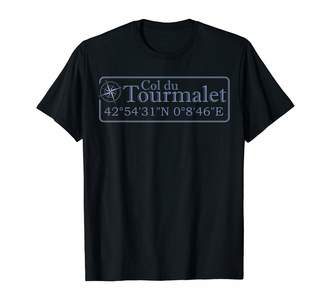Cycle Touring Hill Climb Map Coordinates Apparel Col du Tourmalet Cycling Tour Bicycle Gift French Pyrenees T-Shirt