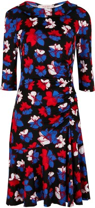 Wallis **Jolie Moi Black Ruched Dress
