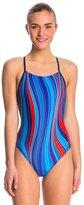 Speedo Plasma Stripe Free Back One Piece Swimsuit 8136800