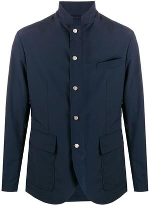 Eleventy High-Neck Tailored Jacket