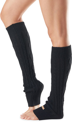 Toesox Knee-High Cable-Knit Leg Warmers