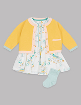 Autograph 3 Piece Cardigan & Dress with Socks Outfit
