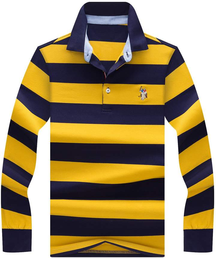 92ce8efb5 Men s Long Sleeve Polo Yellow - ShopStyle Canada