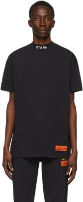 Heron Preston Black Style Mock Neck T-Shirt