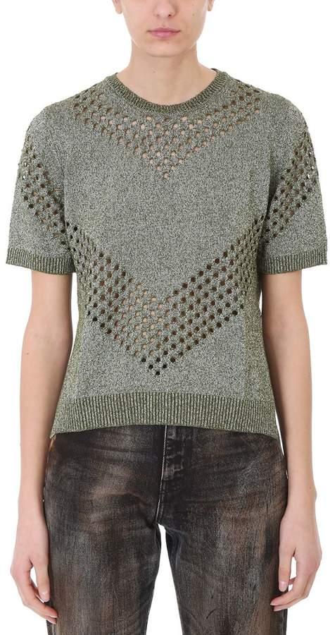 Golden Goose Amber Green Lurex Sweater