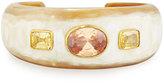 Ashley Pittman Uhuni Light Horn & Crystal Cuff Bracelet