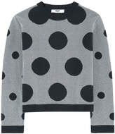 MSGM Spotted wool and lurex sweater
