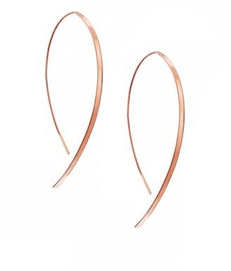 Lana Hooked On Hoop Small 14K Rose Gold Flat Hook Earrings