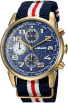 Head Men's 'Open' Quartz Stainless Steel and Nylon Casual Watch, Color: (Model: HE-005-03)