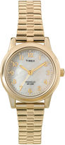 Timex Elevated Classic Womens Gold-Tone Stainless Steel Expansion Bracelet Watch T2M8279J
